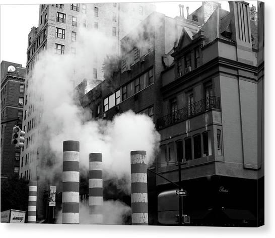 New York, Steam Canvas Print