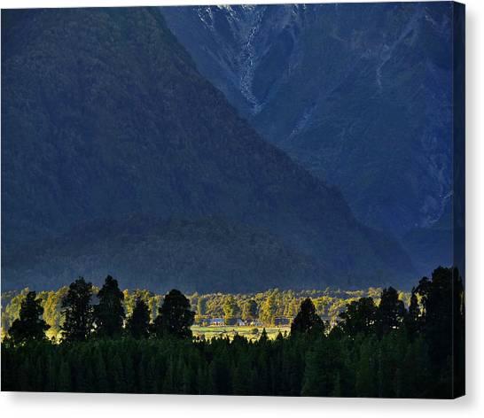 Fox Glacier Canvas Print - New Zealand Alps Foothills Sunrise by Steven Ralser