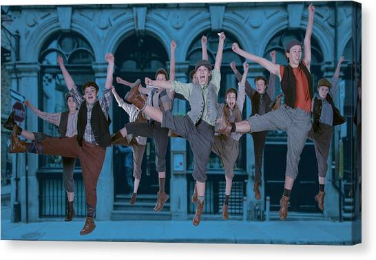 Newsies At The Artisan Center Theater Canvas Print