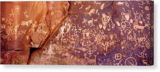 Newspaper Rock Petroglyphs, Utah Canvas Print
