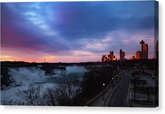 Niagara Falls At Sunrise Canvas Print