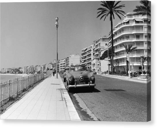 Nice Seafront Canvas Print