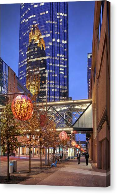 Mall Canvas Print - Nicollet Mall Late In The Day by Jim Hughes