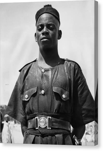 Nigeria Canvas Print - Nigerian Policeman by Richard Harvington