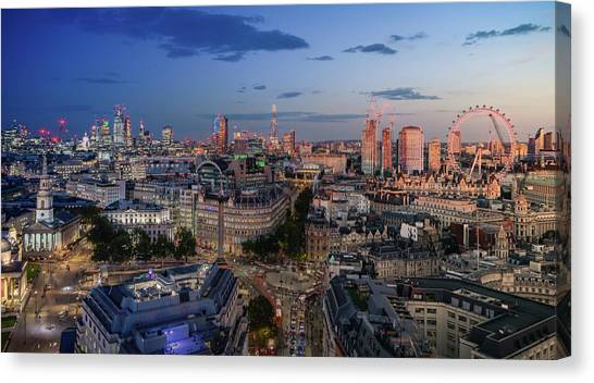 Canvas Print featuring the photograph Night And Day by Stewart Marsden