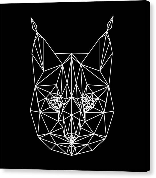 Lynx Canvas Print - Night Bobcat by Naxart Studio