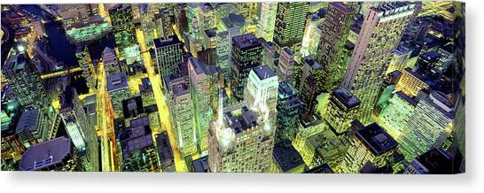 Canvas Print - Night, Chicago, Illinois, Usa by Panoramic Images