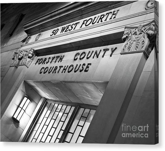 Canvas Print featuring the photograph Night Court by Patrick M Lynch