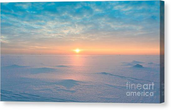 North Shore Canvas Print - Night Is Coming Ice Desert by Vibrant Image Studio