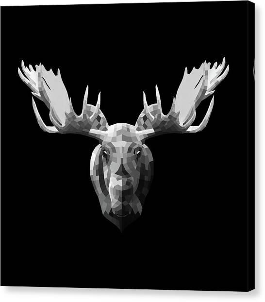 Lynx Canvas Print - Night Moose by Naxart Studio