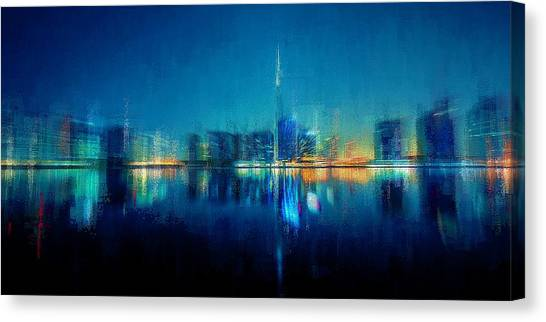 Night Of The City Canvas Print