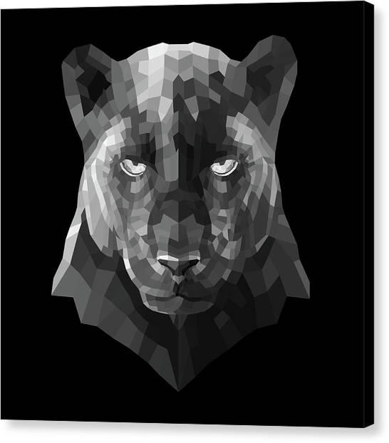 Lynx Canvas Print - Night Panther by Naxart Studio