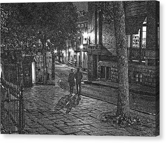 Night Shadows Sketch Canvas Print