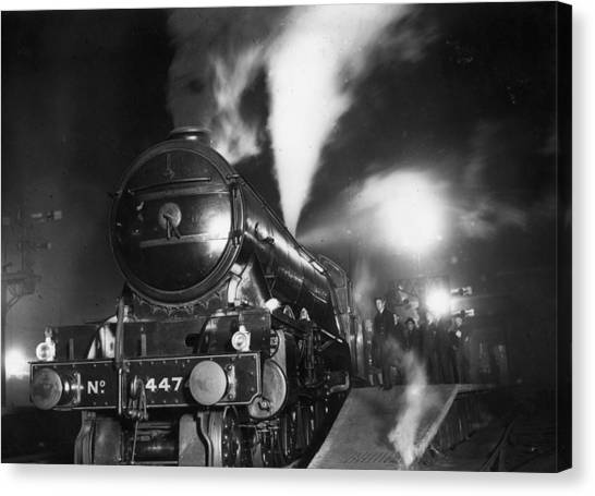 Night Train Canvas Print by Topical Press Agency