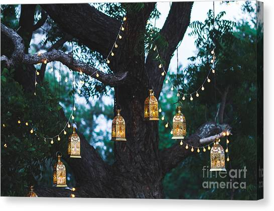 Flash Canvas Print - Night Wedding Ceremony With A Lot Of by Breslavtsev Oleg