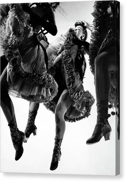 Nightmare Ballet In Original Oklahoma On Broadway Canvas Print by Gjon Mili