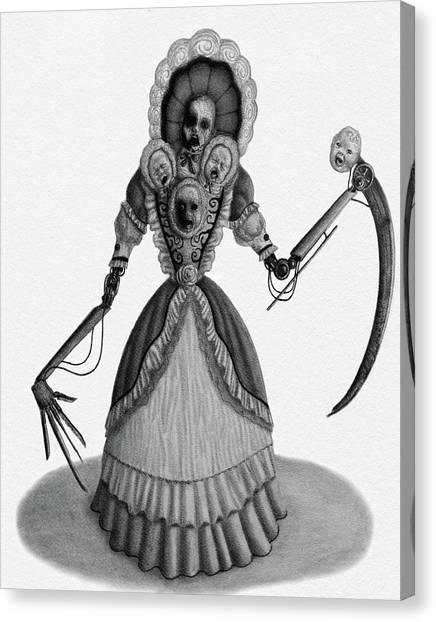 Nightmare Dolly - Artwork Canvas Print