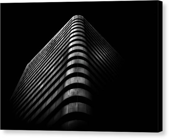 Canvas Print featuring the photograph No 1 Dundas St W Toronto Canada 3 by Brian Carson
