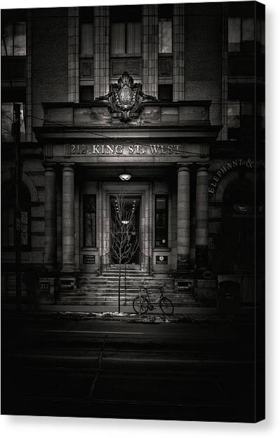 Canvas Print featuring the photograph No 212 King Street West Toronto Canada by Brian Carson