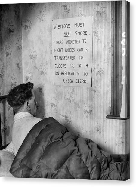 Placard Canvas Print - No Snoring by General Photographic Agency