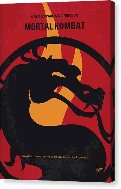 Mortal Kombat Canvas Print - No1005 My Mortal Kombat Minimal Movie Poster by Chungkong Art