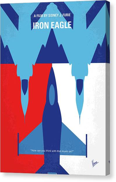 F16 Canvas Print - No1028 My Iron Eagle Minimal Movie Poster by Chungkong Art