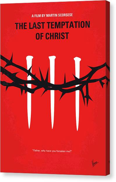 Last Canvas Print - No1062 My The Last Temptation Of Christ Minimal Movie Poster by Chungkong Art