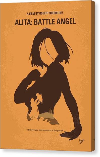 Battle Canvas Print - No1063 My Alita Battle Angel Minimal Movie Poster by Chungkong Art