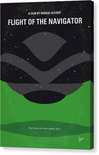 Flight Canvas Print - No1067 My Flight Of The Navigator Minimal Movie Poster by Chungkong Art