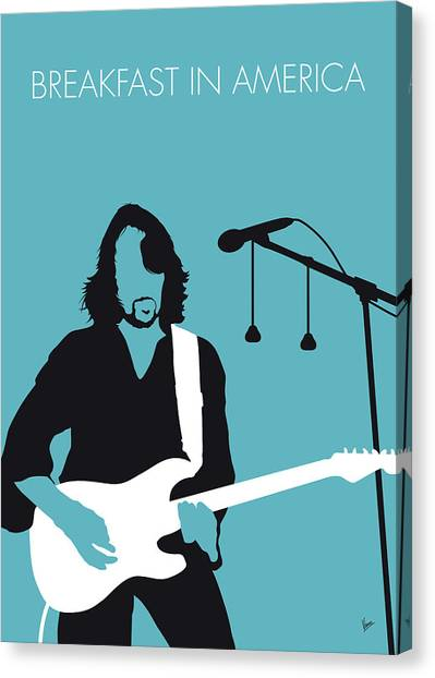Art In America Canvas Print - No215 My Supertramp Minimal Music Poster by Chungkong Art