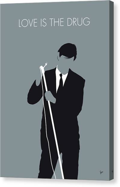Rock Music Canvas Print - No237 My Roxy Music Minimal Music Poster by Chungkong Art