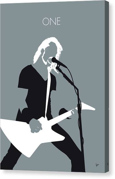 All Star Canvas Print - No257 My Metallica Minimal Music Poster by Chungkong Art