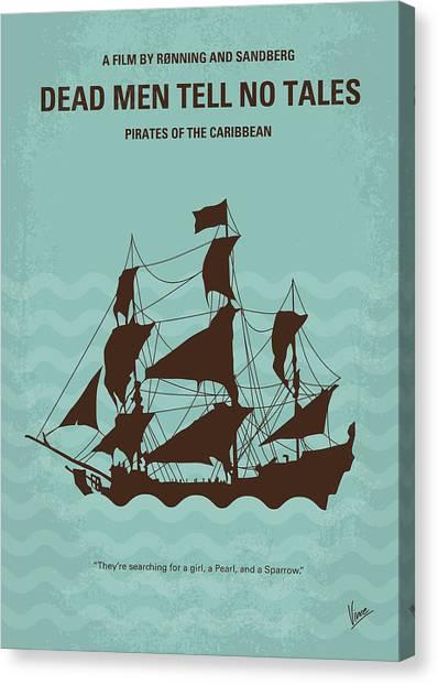 Sparrows Canvas Print - No494-5 My Pirates Of The Caribbean V Minimal Movie Poster by Chungkong Art