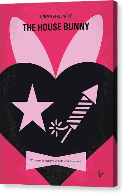 Sorority Canvas Print - No966 My The House Bunny Minimal Movie Poster by Chungkong Art
