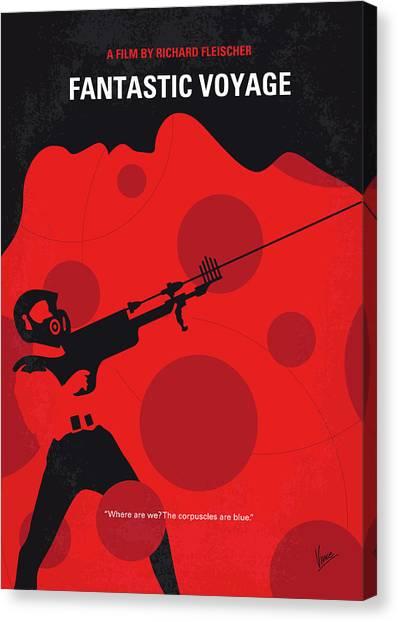Submarine Canvas Print - No974 My Fantastic Voyage Minimal Movie Poster by Chungkong Art