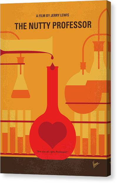 Professors Canvas Print - No976 My The Nutty Professor Minimal Movie Poster by Chungkong Art