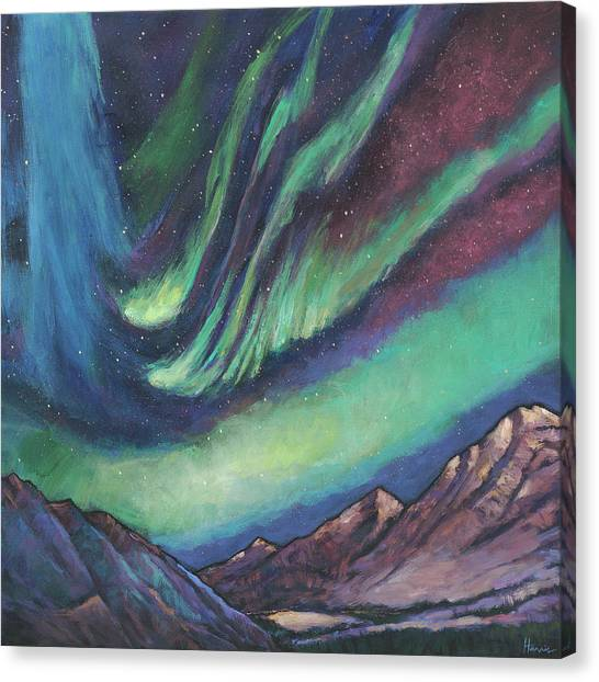 Aurora Borealis Canvas Print - North By Northwest by Johnathan Harris
