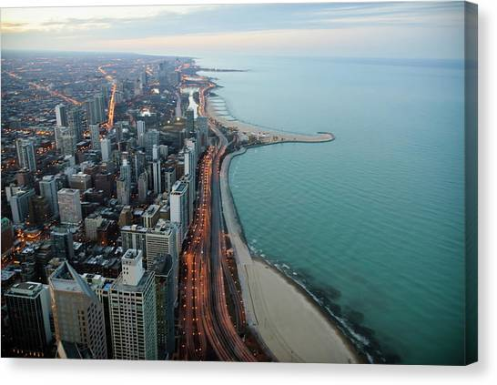 North Lake Shore Drive Canvas Print by By Ken Ilio