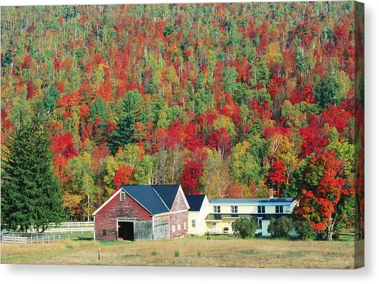 North New Hampshire Landscape Along Canvas Print