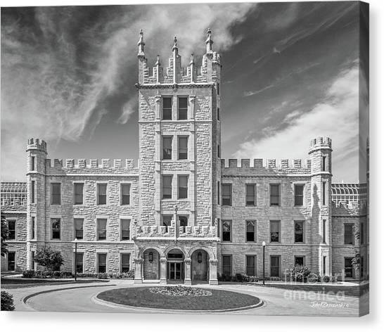 Northern Illinois University Canvas Print - Northern Illinois University Altgeld Hall by University Icons