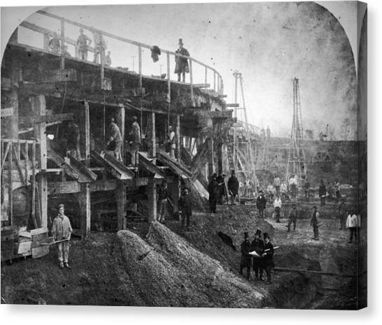 Northern Outfall Sewer Canvas Print by Otto Herschan Collection