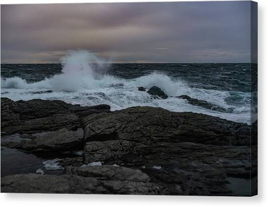 Norwegian Wild Waters Canvas Print
