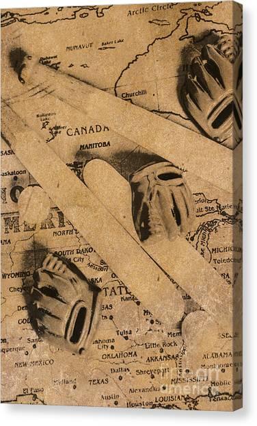 Bat Canvas Print - Nostalgic Baseball by Jorgo Photography - Wall Art Gallery
