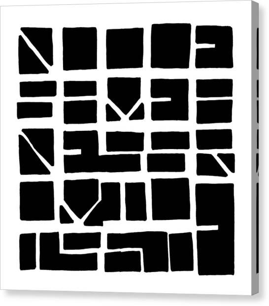 Nucle... Black Canvas Print
