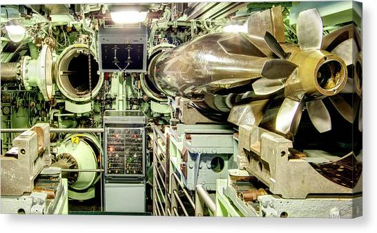 Nuclear Submarine Torpedo Room Canvas Print