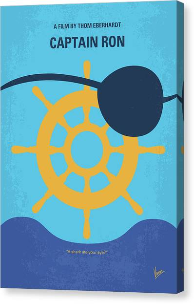 Yacht Canvas Print - No1031 My Captain Ron Minimal Movie Poster by Chungkong Art