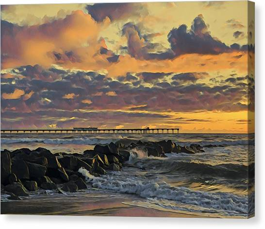 Ob Sunset No. 3 Canvas Print