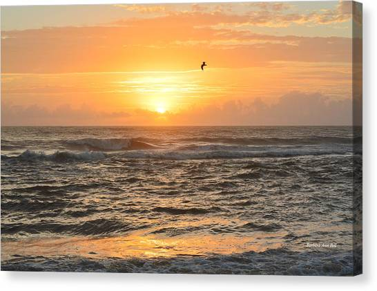 Canvas Print featuring the photograph Obx Sunrise 9/17/2018 by Barbara Ann Bell