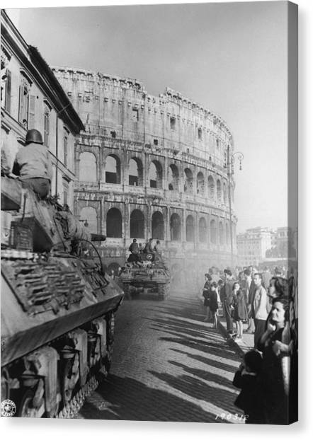 Occupation Of Rome Canvas Print by Hulton Archive