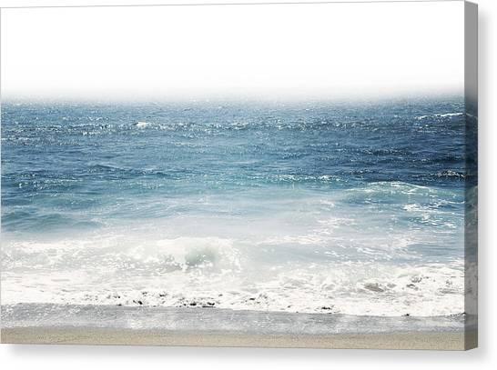 Greeting Canvas Print - Ocean Dreams- Art By Linda Woods by Linda Woods